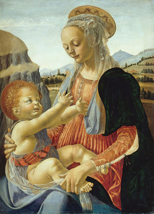 Florence_verrocchio-madonna-con-bambino
